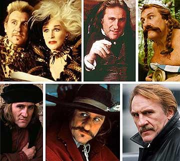 Varios de los más famosos personajes de Depardieu